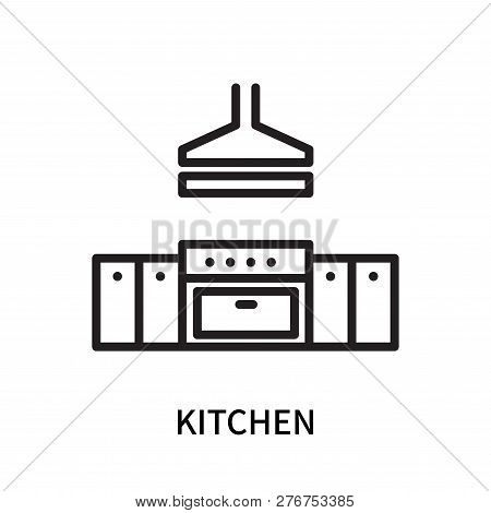 Kitchen Icon Isolated On White Background. Kitchen Icon Simple Sign. Kitchen Icon Trendy And Modern