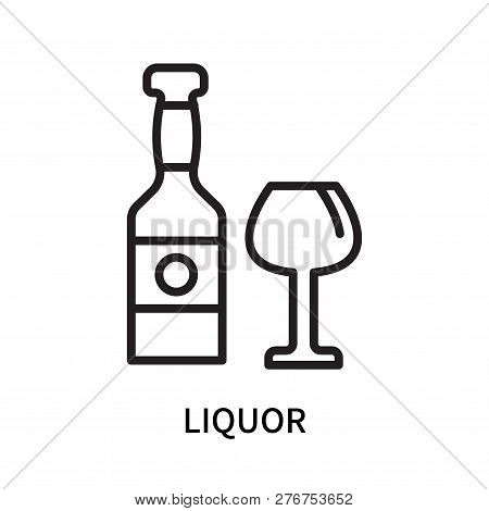 Liquor Icon Isolated On White Background. Liquor Icon Simple Sign. Liquor Icon Trendy And Modern Sym