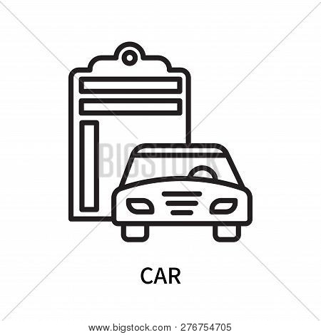 Car Icon Isolated On White Background. Car Icon Simple Sign. Car Icon Trendy And Modern Symbol For G