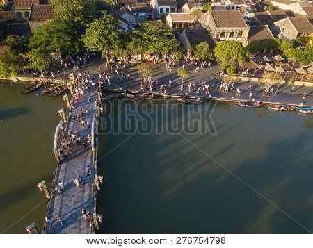 Aerial View Of Hoi An Old Town Or Hoian Ancient Town. Royalty High-quality Free Stock Photo Image To