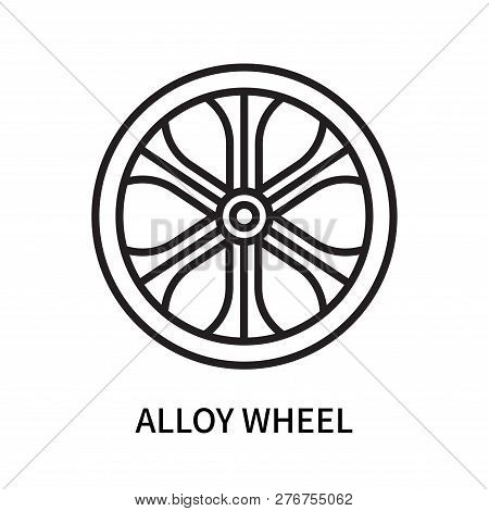 Alloy wheel icon isolated on white background. Alloy wheel icon simple sign. Alloy wheel icon trendy and modern symbol for graphic and web design. Alloy wheel icon flat vector illustration for logo, web, app, UI. poster