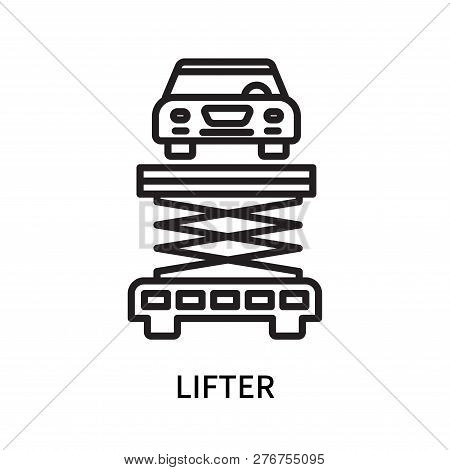Lifter Icon Isolated On White Background. Lifter Icon Simple Sign. Lifter Icon Trendy And Modern Sym