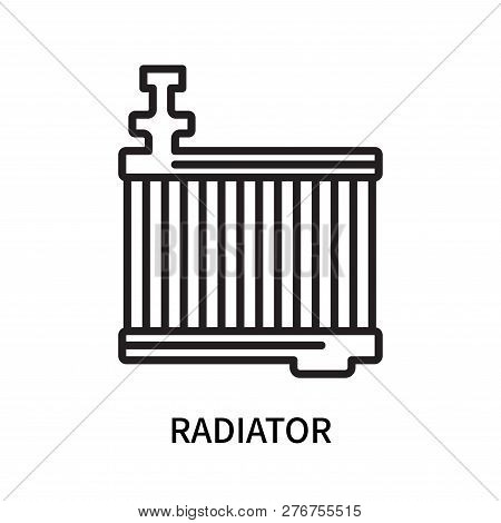 Radiator Icon Isolated On White Background. Radiator Icon Simple Sign. Radiator Icon Trendy And Mode