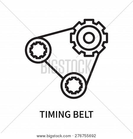 Timing Belt Icon Isolated On White Background. Timing Belt Icon Simple Sign. Timing Belt Icon Trendy