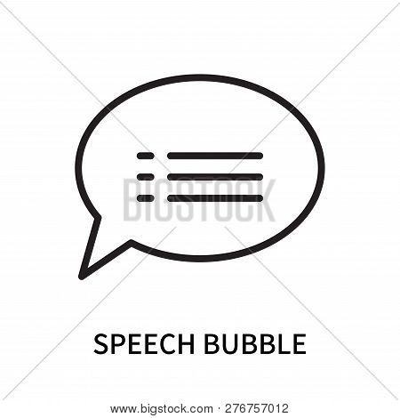 Speech Bubble Icon Isolated On White Background. Speech Bubble Icon Simple Sign. Speech Bubble Icon