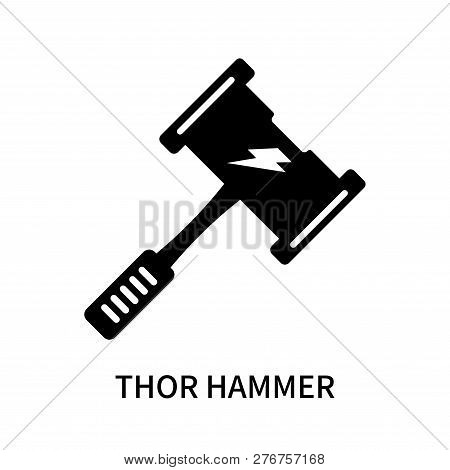 Thor Hammer Icon Isolated On White Background. Thor Hammer Icon Simple Sign. Thor Hammer Icon Trendy