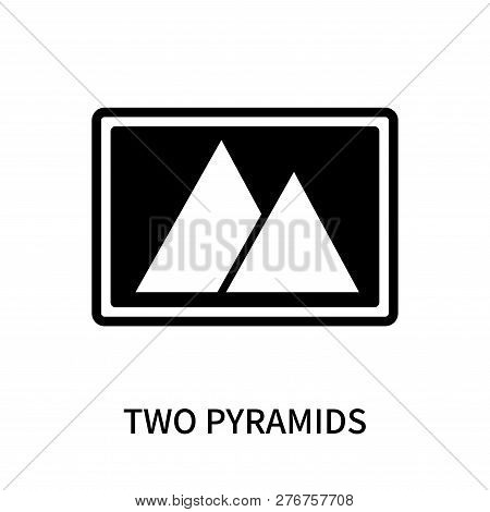 Two Pyramids Icon Isolated On White Background. Two Pyramids Icon Simple Sign. Two Pyramids Icon Tre