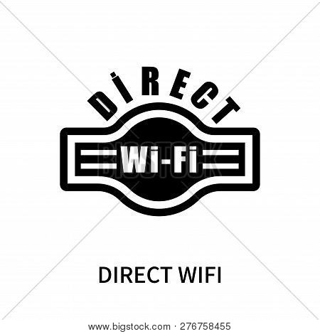 Direct Wifi Icon Isolated On White Background. Direct Wifi Icon Simple Sign. Direct Wifi Icon Trendy