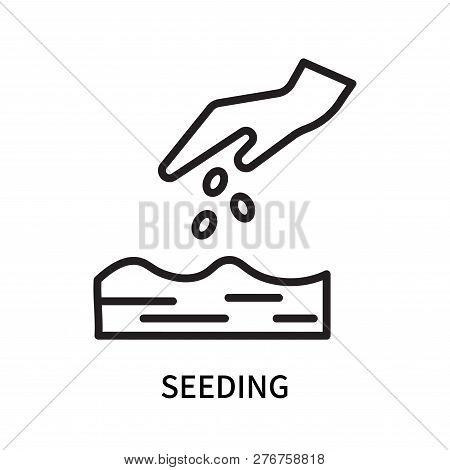 Seeding Icon Isolated On White Background. Seeding Icon Simple Sign. Seeding Icon Trendy And Modern