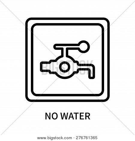No Water Icon Isolated On White Background. No Water Icon Simple Sign. No Water Icon Trendy And Mode