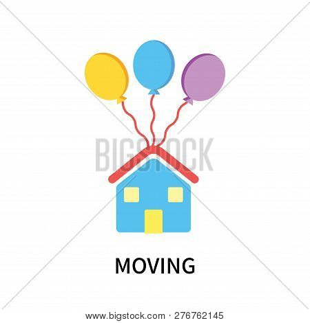 Moving Icon Isolated On White Background. Moving Icon Simple Sign. Moving Icon Trendy And Modern Sym