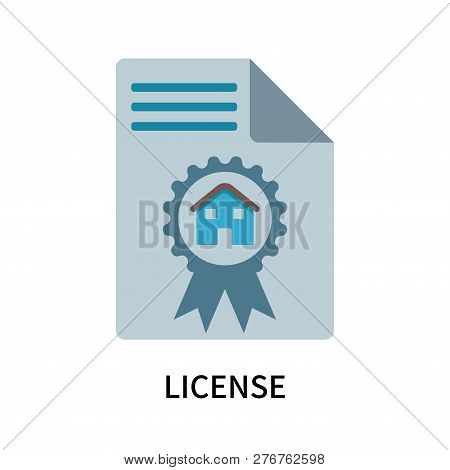 License Icon Isolated On White Background. License Icon Simple Sign. License Icon Trendy And Modern