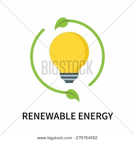 Renewable Energy Icon Isolated On White Background. Renewable Energy Icon Simple Sign. Renewable Ene