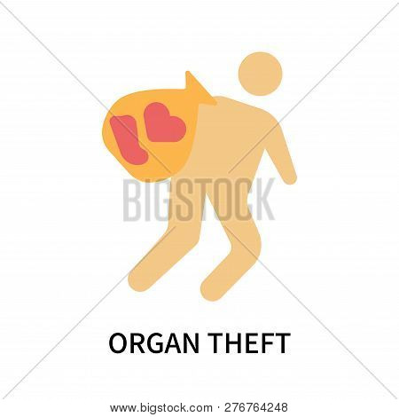 Organ Theft Icon Isolated On White Background. Organ Theft Icon Simple Sign. Organ Theft Icon Trendy