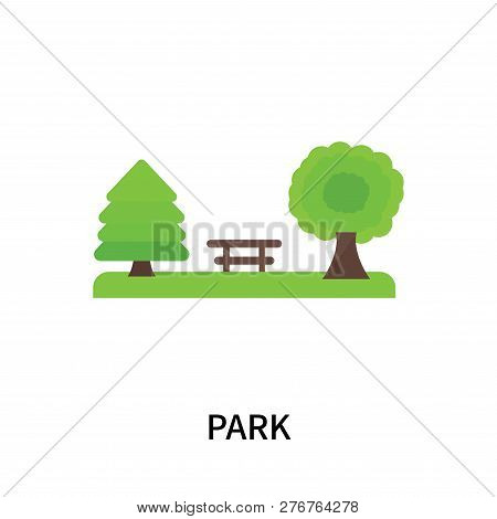 Park Icon Isolated On White Background. Park Icon Simple Sign. Park Icon Trendy And Modern Symbol Fo