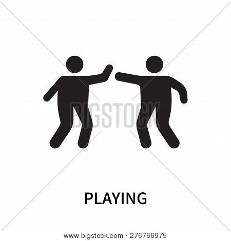 Playing Icon Isolated On White Background. Playing Icon Simple Sign. Playing Icon Trendy And Modern