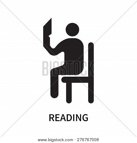 Reading Icon Isolated On White Background. Reading Icon Simple Sign. Reading Icon Trendy And Modern