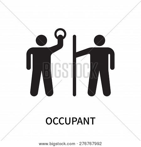 Occupant Icon Isolated On White Background. Occupant Icon Simple Sign. Occupant Icon Trendy And Mode