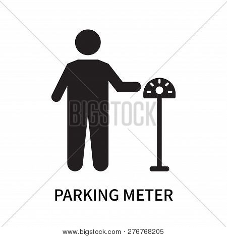 Parking Meter Icon Isolated On White Background. Parking Meter Icon Simple Sign. Parking Meter Icon