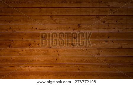 Rustic Brown Natural Wooden Boards With Wood Grain Texture