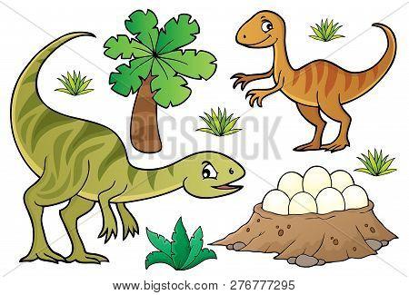 Dinosaur Topic Set 7 - Eps10 Vector Picture Illustration.