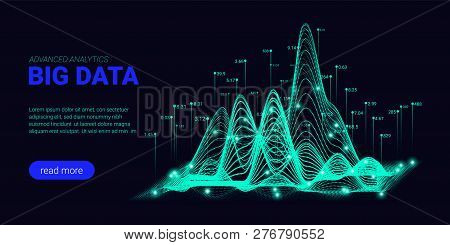 Big Data Analytics, Artificial Intelligence Concept. Technology Landing Page Template. Business Anal
