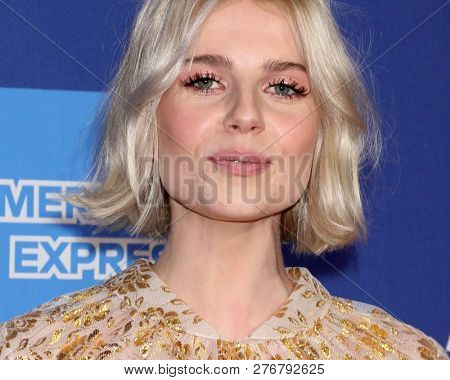 PALM SPRINGS - JAN 17:  Lucy Boynton at the 30th Palm Springs International Film Festival Awards Gala at the Palm Springs Convention Center on January 17, 2019 in Palm Springs, CA