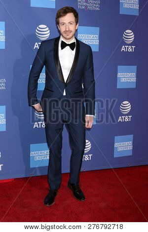 PALM SPRINGS - JAN 17:  Joseph Mazzello at the 30th Palm Springs International Film Festival Awards Gala at the Palm Springs Convention Center on January 17, 2019 in Palm Springs, CA