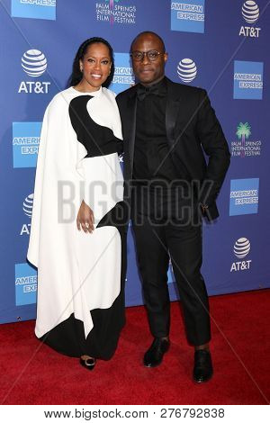 PALM SPRINGS - JAN 17:  Regina King, Barry Jenkins at the 30th Palm Springs International Film Festival Awards Gala at the Palm Springs Convention Center on January 17, 2019 in Palm Springs, CA