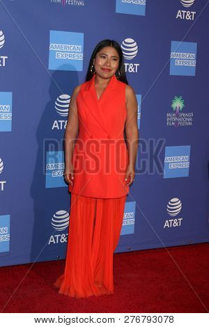 PALM SPRINGS - JAN 17:  Yalitza Aparicio at the 30th Palm Springs International Film Festival Awards Gala at the Palm Springs Convention Center on January 17, 2019 in Palm Springs, CA