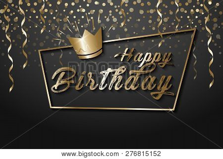 Happy Birthday Vector Photo Free Trial Bigstock