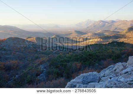 Autumn Day In The Mountains. Dinaric Alps, Bosnia And Herzegovina, Republika Srpska
