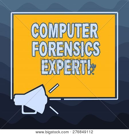 Writing Note Showing Computer Forensics Expert. Business Photo Showcasing Harvesting And Analysing E