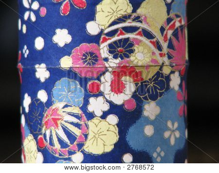 Fabric Pattern Tea Container