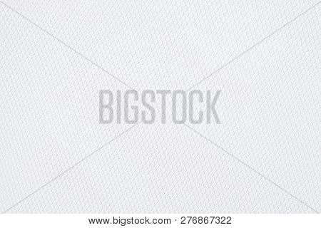 White Background, Close Up Background Of White Fabric Or Abstract White Fabric Texture Use For Web D