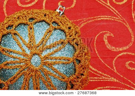 Closeup Of Snowflake Ornament
