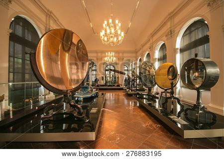 Dresden, Germany - January 1, 2019: The Mathematisch-physikalischer Salon In Dresden, Germany, Is A