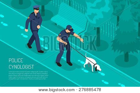 Police Cynologist Special Footsteps Tracking Dog Training Assisting Detective Inspectors In Crime In