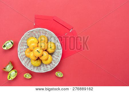 Table Top View Of Accessories On Lunar New Year & Chinese New Year Vacation Concept Background.fresh
