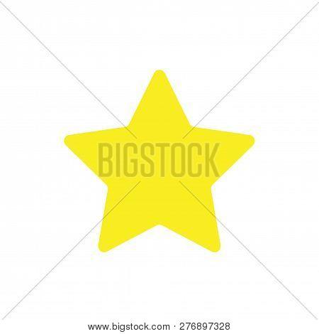 Star Yellow Icon Vector. Rank Sign Isolated On White Background. Trendy Flat Design. Logo Illustrati