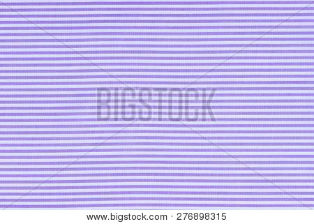Cloth Background Texture Of Lilac White Striped Textile
