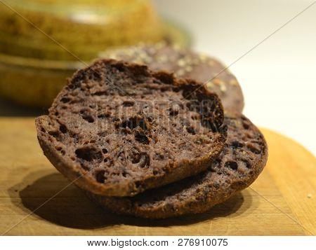 Vegan Bagel Made Using Image Photo Free Trial Bigstock