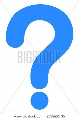 Question Mark Vector Icon Symbol. Flat Pictogram Is Isolated On A White Background. Question Mark Pi