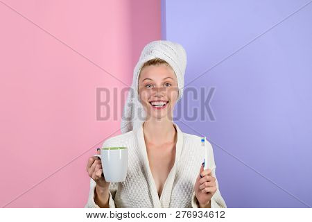 Woman With Toothbrush. Morning Treatments. Health. Morning. Morning Routine. Morning Procedures. Awa