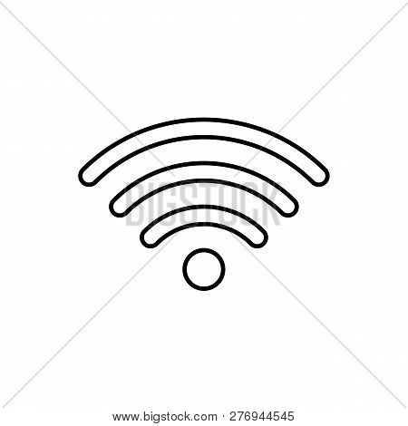 Wifi Signal Icon Isolated On White Background. Wifi Signal Icon In Trendy Design Style. Wifi Signal