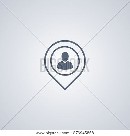 Locate People, Vector Best Flat Icon On White Background , Eps 10