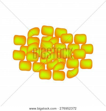 Lactobacillus. Probiotic. Lactococcus Lactis. Infographics. Vector Illustration On Isolated Backgrou