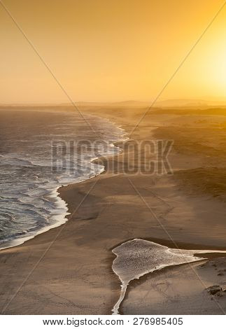 Sunset Across Redhead Beach - Newcastle Australia From Lookout. This Beach Stretches From Redhead So