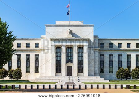 Federal Reserve Building, The Headquater Of Federal Reserve Bank. Washington Dc, Usa.