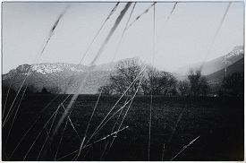 Vintage Black And White Landscape, Rural And Mountains, Savoy, France